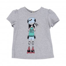 T-shirt Miss Marc Roller Gris chiné