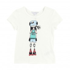 T-shirt Miss Marc Roller  Blanc