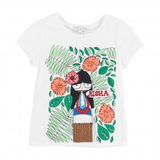 T-shirt Miss Marc Aloha Blanc