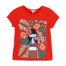 T-shirt Miss Marc Aloha Rouge