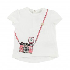 T-Shirt Appareil Photo Blanc