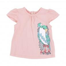 T-shirt Perruche Roller Rose