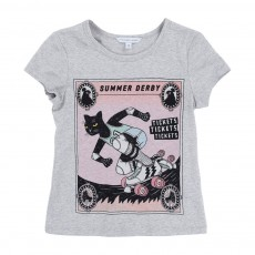 T-shirt Chat Roller Gris chiné