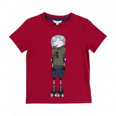 T-shirt Little Marc Roller Bordeaux
