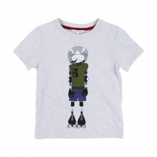 T-shirt Little Marc Roller Gris chiné