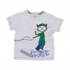T-shirt Little Marc Ski Nautique Gris chiné