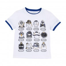 T-shirt Personnages Blanc