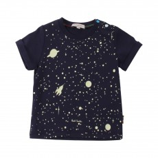 T-shirt  Phosphorescent Galaxies Honolulu Bleu nuit