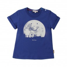 T-shirt Lune Humberto Bleu