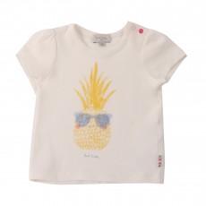 T-shirt Ananas Hanita Blanc