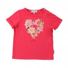 T-shirt Cœur Fleurs Hydris Rose