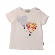 T-shirt Cœurs Ballons Hellie Blanc