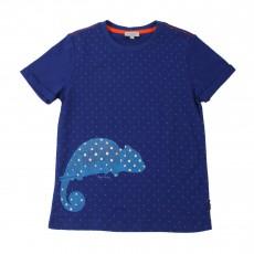 T-shirt Phosphorescent Caméléon Hollis Bleu