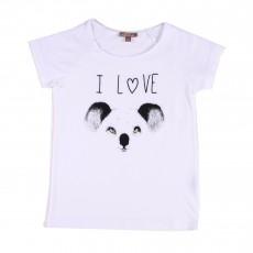 T-shirt I Love Koala Blanc
