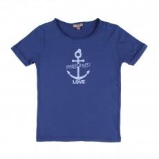 T-shirt Ancre Bleu