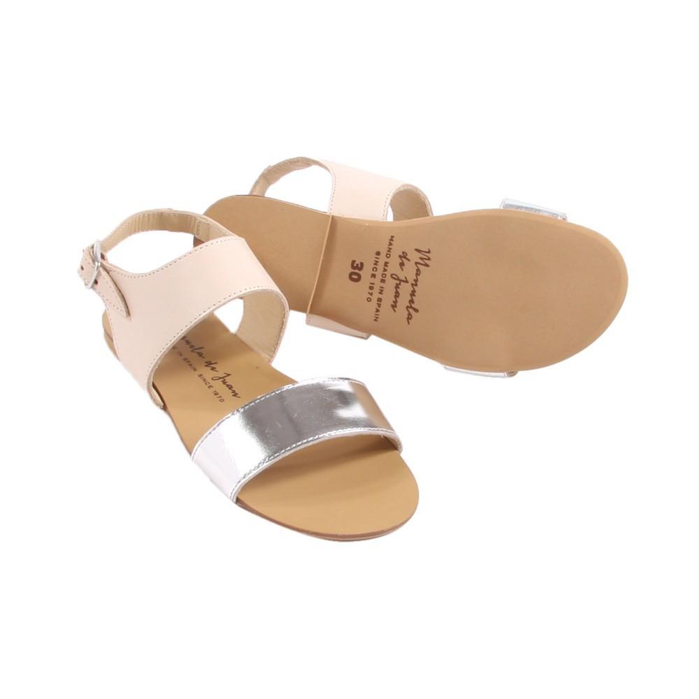 sandales bicolore zo rose poudr manuela de juan chaussures smallable. Black Bedroom Furniture Sets. Home Design Ideas