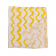 Foulard Paréo Waves All Over Jaune