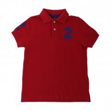 Polo Piqué Numéro 2 Rouge