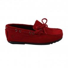 Mocassins Lacets Rouge