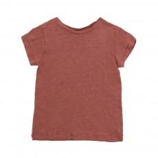 T-shirt Lin Moun Marron