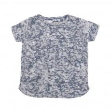 T-shirt Dévoré Sady Bleu chiné