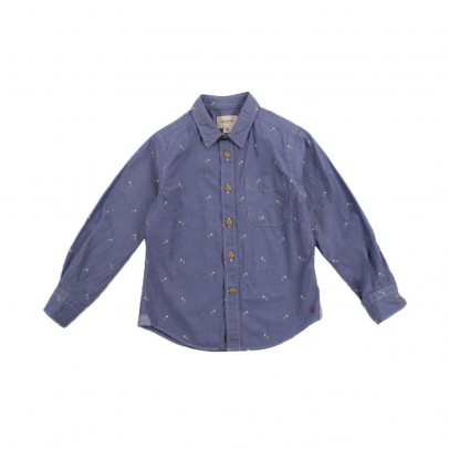 chemise pois ganix bleu ciel bellerose mode ado gar on smallable. Black Bedroom Furniture Sets. Home Design Ideas