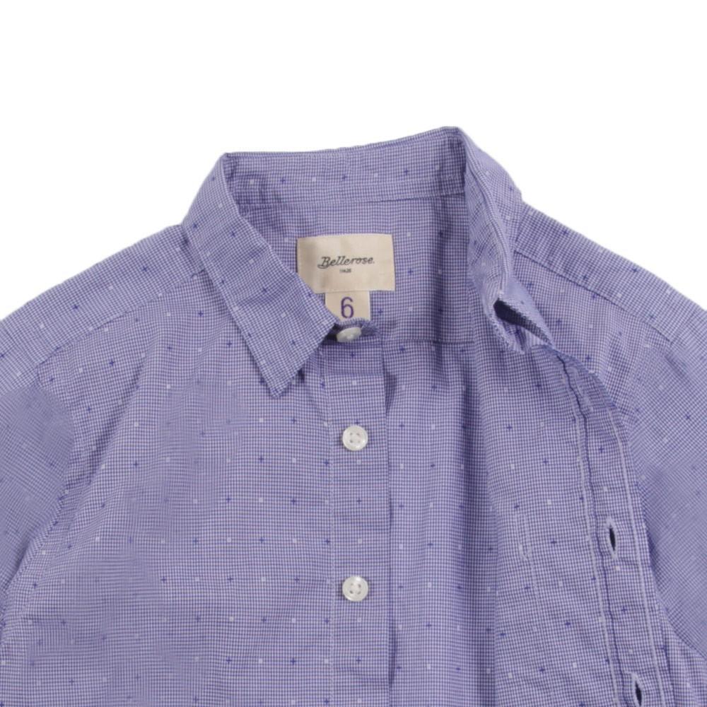 chemise carreaux et pois ganix bleu p le bellerose mode ado gar on smallable. Black Bedroom Furniture Sets. Home Design Ideas