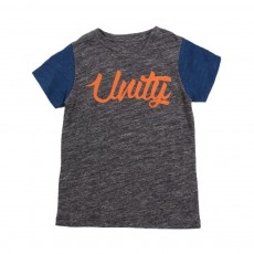 "T-shirt Bicolore ""Unity"" Cats Gris chiné"