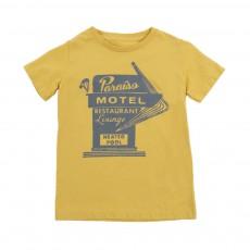 """T-shirt """"Paradiso Motel"""" Keny Jaune"""