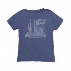 T-shirt Cactus Bleu