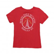 "T-shirt ""Hawaii Radio Network"" Rouge"