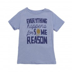"T-shirt ""Everything Happens For Some Reason"" Bleu ciel"