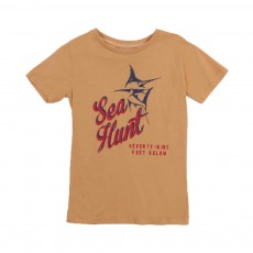 "T-shirt ""Sea Hunt"" Ocre"