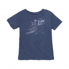T-shirt Hawaii Surf Bleu chiné