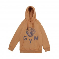 "Sweat Capuche Indien ""Gym"" Ocre"