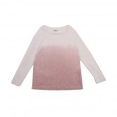 T-shirt Manches Longues Lin Tie&Dye Rose pâle