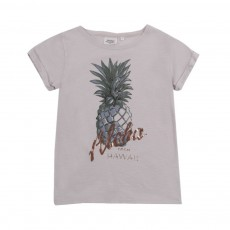 "T-shirt Ananas ""Aloha"" Gris perle"