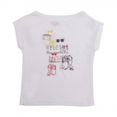 T-Shirt Imprimé Travel Blanc