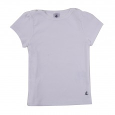 T-shirt Basic Encolure Amiral Blanc