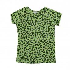 T-Shirt Léopard Vert