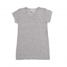 T-shirt Chiné Gris clair