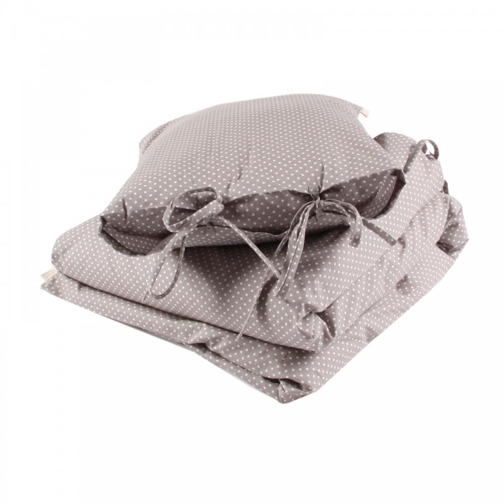 parure de lit gris et pois blancs numero 74 univers b b smallable. Black Bedroom Furniture Sets. Home Design Ideas