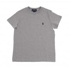 T-Shirt Uni Gris chiné