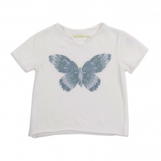 T-shirt Papillon Blanc
