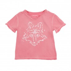 T-shirt Loup Rose