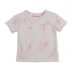 "T-shirt Tie&Dye ""Peace"" Rose"