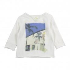 T-shirt Manches Longues Miami Blanc