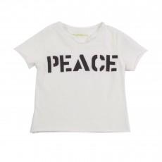"T-shirt ""Peace"" Blanc"