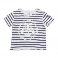 T-shirt Rayé Loup Blanc