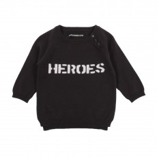 "Pull ""Heroes"" Gris charbon"